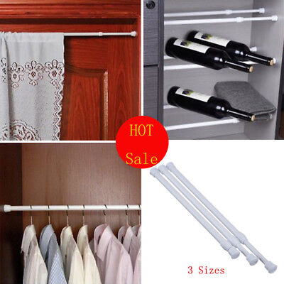 US FAST Extendable Telescopic Spring Loaded Net Voile Tension Curtain Rail Rods ()