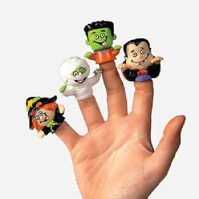 Vinyl Halloween Character Finger Puppets 12 Piece