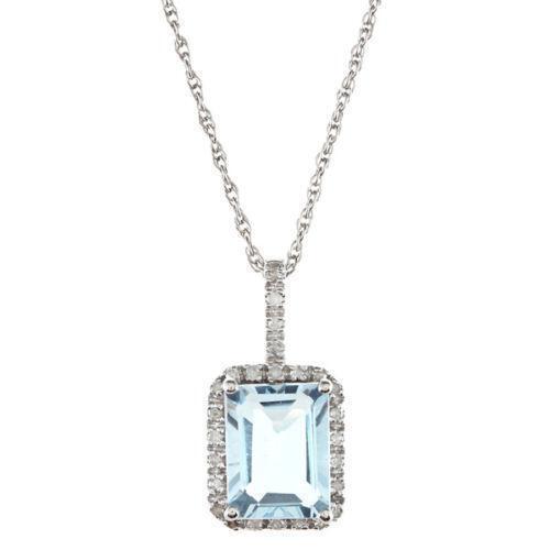 Emerald Cut Diamond Necklace Ebay