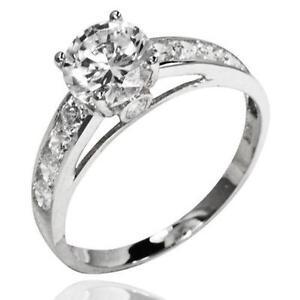 White Gold Cz Engagement Ring