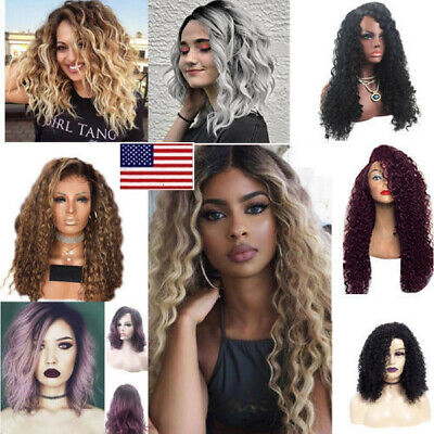 US Fashion Women Curly Long Wigs Full Hair Wavy Wig  Party Cosplay Costume OCCA - Costume Wigs For Women