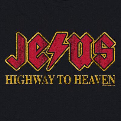 JESUS HIGHWAY TO HEAVEN TSHIRT Funny Religious Got Christ Christian Rocks Shirt Got Jesus Christian T-shirt