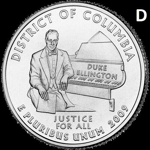 2009 D District of Columbia Quarter DC & US Territory State Denver~ UNC 2nd