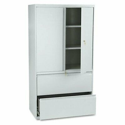 """Hon 800 Series Wide Lateral File With Storage Cabinet - 36"""""""
