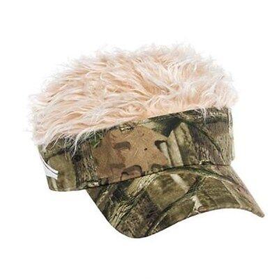 FLAIR HAIR HATS WITH HAIR MOSSY OAK CAMO VISOR BLONDE HAIR QUALITY SURF - Golf Visor With Hair