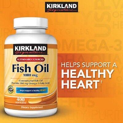 Kirkland Signature Omega-3 Fish Oil 1000 mg 400 ct softgels (vitamin supplement)