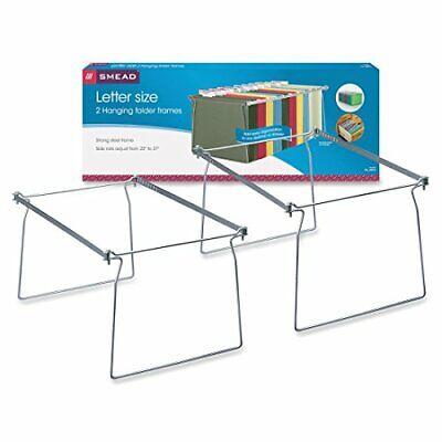 Steel Hanging File Folder Frame Letter Size Gray 2 Per Pack 64870 Free Sh