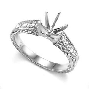 950-Platinum-20-CWT-Diamond-Semi-Mount-Ring-Setting-6-20-Grams-R1725