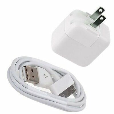 White USB AC Wall Charger Power Adapter for Apple iPad 1/2/3 1st Generation Gen