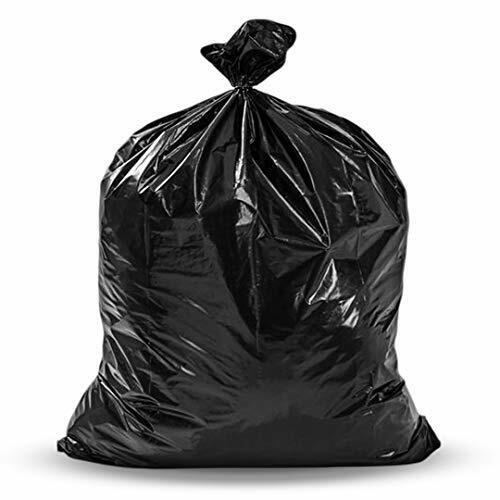 Toughbag 55 Gallon Trash Bags, (50 Count w/Ties) Large Black Garbage Bags.