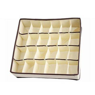 24 Cells Foldable Closet Drawer Organizer Box For Bra Underwear Tie Sock D6C4