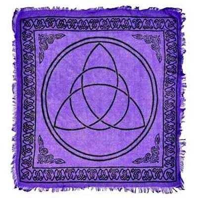 "18""x18"" Purple Triquetra Altar Cloth!"