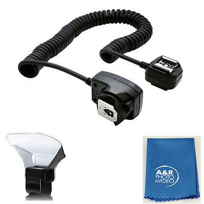 Ttl Off Cámara Flash Zapato Cable Para Canon SL1 T5 T3 T6s...