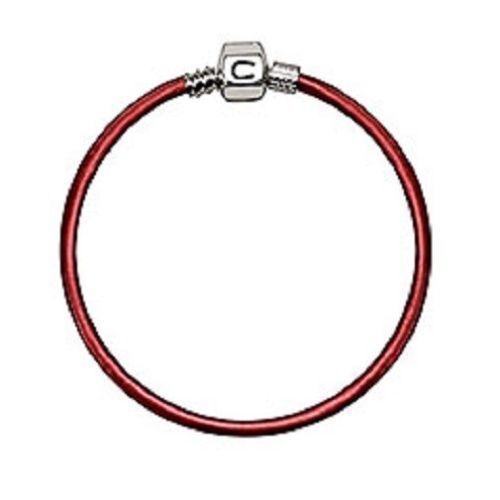 "Chamilia - Bracelets - 7.5"" Persimmon Metallic Leather Retired"