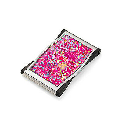 Karim Rashid Krew Pink And Metal Business Name Card Case By Troika Color Pink