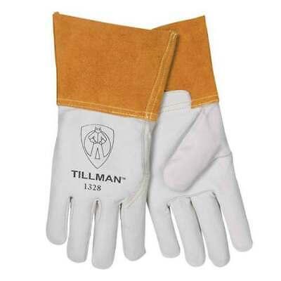 Tillman 1328 Top Grain Goatskin Tig Welding Gloves 4 Cuff Choice - Med Large Xl