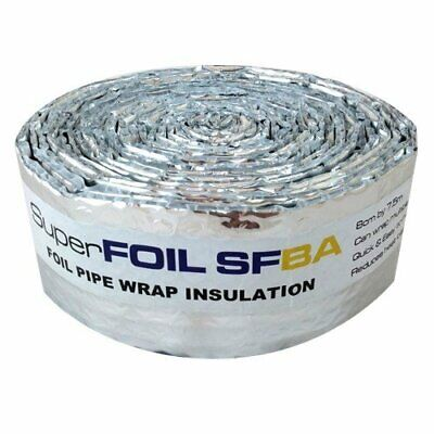 SuperFOIL SFBA Insulation Foil (7.5m x 8cm)-3mm Heat Reflective Reflector Bubble