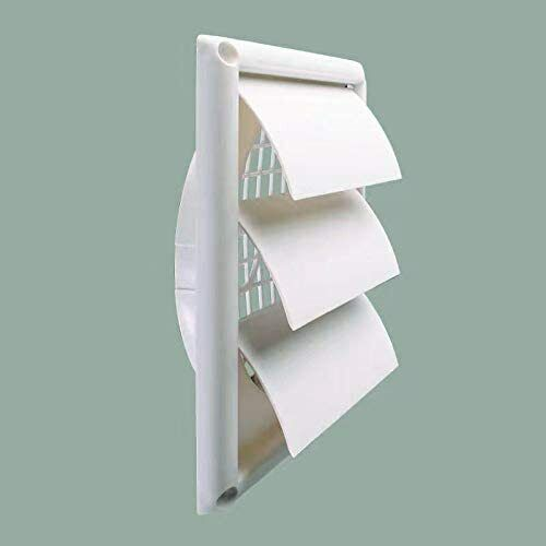 """Outdoor Dryer Vent Cover  Louvered Vent Hood Work with 6"""" Ve"""