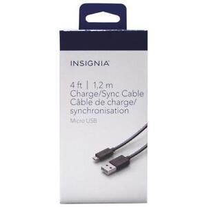 Insignia NS-MCDT2-C  1.2m  (4 ft.) Micro USB Sync/Charger (Open Box)