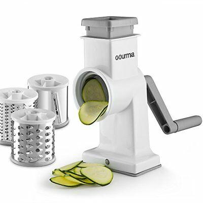 Gourmia GSS9620 Rotary Drum Grater – 3 Interchangeable Stainless Steel Blades