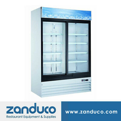 Zanduco 54 2-door Sliding Glass Cooler 45 Cu. Ft.