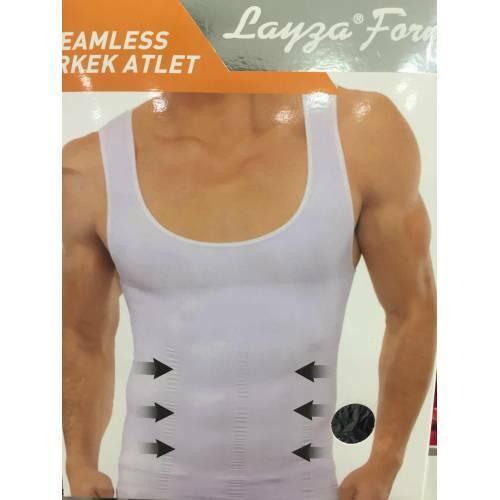 Herren Unterhemd Mieder Korsett Shapewear Körperformendes Body Shape Bauch Weg