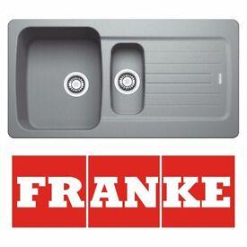New Franke Aveta 1.5 Stone Tectonite Fully Reversible Kitchen Sink & Waste(Graded)