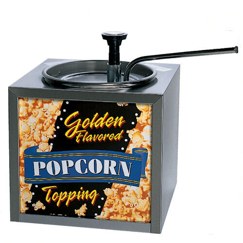 NEW BUTTERY POPCORN TOPPING DISPENSER with LIGHTED SIGN