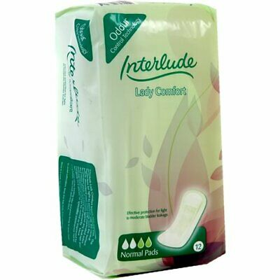 Pack of 12 Interlude Unisex Incontinence Pads Normal Level Absorbancy