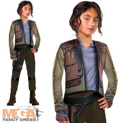 Jyn Erso Girls Fancy Dress Star Wars Rogue One Movie Kids Childrens Costume (Girls Movie Star Kostüme)