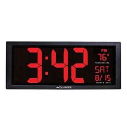 Digital Large Wall Clock Big Jumbo LED Display Indoor Temperature Calendar Date