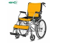 lightweight aluminum folding back portable Self Propelled mobility Wheelchair
