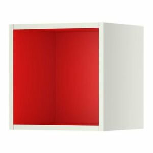 IKEA TUTEMO Shelf/Open Cabinet in White/Red (5 available) - NEW
