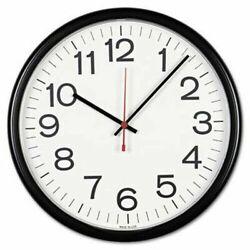 Universal® Indoor/Outdoor Clock, 13 1/2, Black