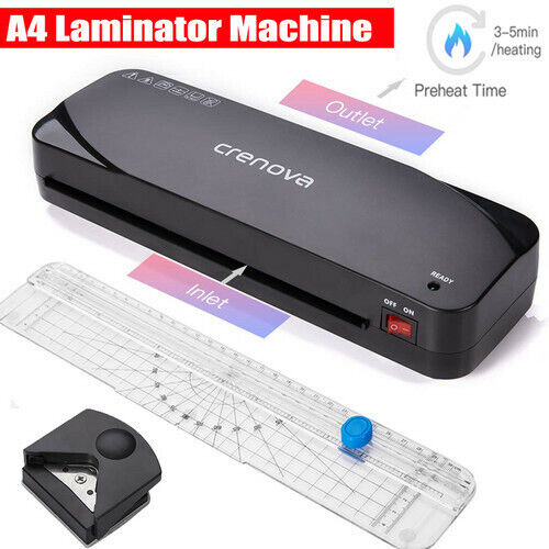 A4 Laminator Laminating Machine + 20 Pouches + Corner Rounder + Paper Trimmer