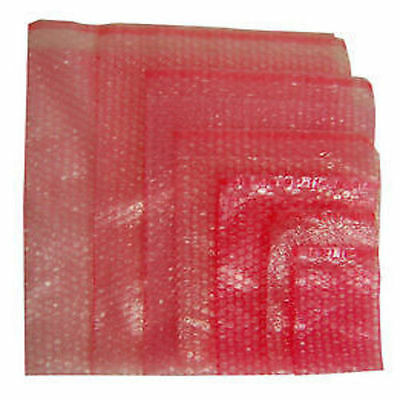 100 X Pink Anti-static Bubble Wrap Bags Pouches With Self Seal Flap