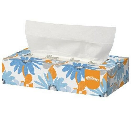 Kleenex Facial Tissue, White, 2-Ply Pop-Up Box, 125 Count, 21606 - Case of 48