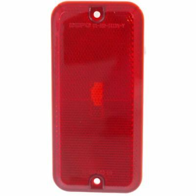 For Chevrolet G30 85-96, Rear, LH=RH Side Side Marker Lamp, Lens and Housing Red (Chevrolet G30 Side Marker)