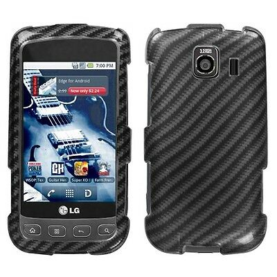 Racing Fiber Hard Case Snap on Cover LG Optimus S LS670 (Fiber Hard Case Snap)