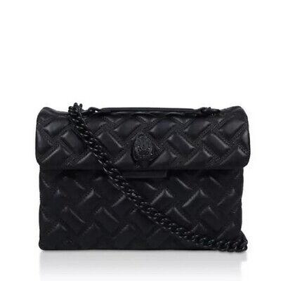 Kurt Geiger Kensington Black Leather Drench Large Bag