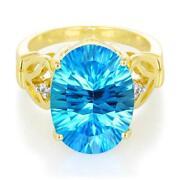 Blue Topaz Yellow Gold Ring