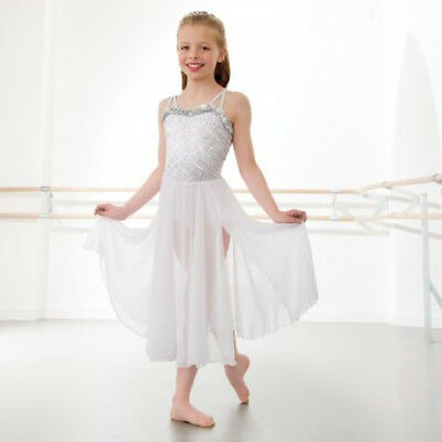 fcea3d5dc IN STOCK Stunning White Sequin Lyrical Modern Dress All Sizes