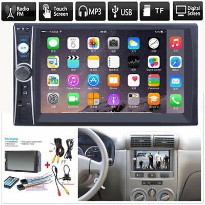 Bluetooth FM Player Stereo Radio Car 7'' HD MP5 Touch Screen + Free Rear Camera