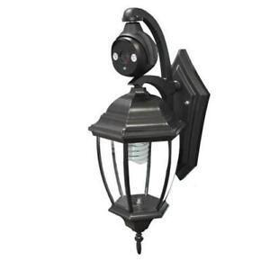 Lamp Type CCTV Security Camera - Black