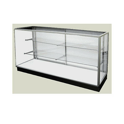 Economy Extra Vision Glass Display Case Showcase 48 L - New York Pickup Only