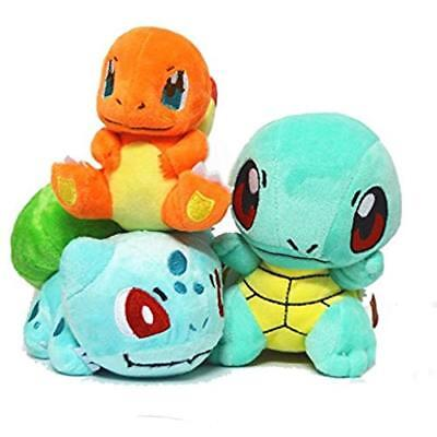 3pcs/set Pokemon Bulbasaur Charmander Squirtle Stuffed Plush Doll Toys