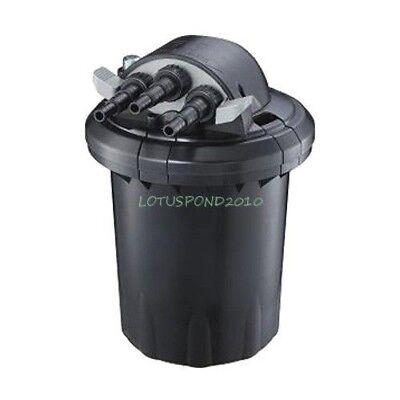 - Compact 1500 Gallon Pressure 13W UVC Fish Pond Bio-Filter Easy Backwash Feature