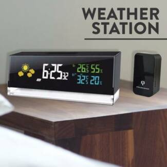 Digital Weather Station Alarm Clock Cube NEW