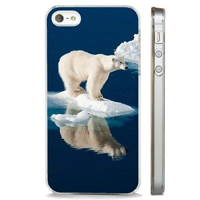 Polar Bear Melting Ice Arctic CLEAR PHONE CASE COVER fits iPHONE 5 6 7 8 X - Ice Clear Case Iphone