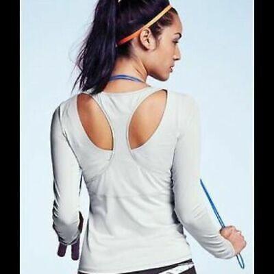 Athleta Steel Gray Active Rally Up Yoga Long Sleeve Top Lycra 243068 Women's XXS